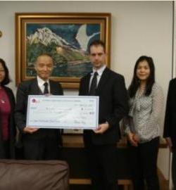 Ambassabor Receives Cheque from OJLS Group Shot